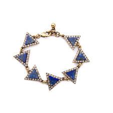 Bracelet Doré Art Deco Triangle Lapis Lazuli Bleu Class Fin Retro Mariage CT8