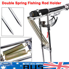 Portable Automatic Fishing Rod Rack Pole Holder Stainless Steel Bracket 2 Spring