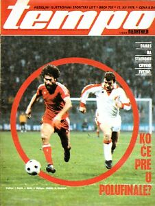 """1979*CRVENA ZVEZDA (RED STAR) v BAYERN ! UEFA Cup. Sports magazine """"Tempo"""". Rare"""