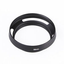 US 58mm Hollow Metal Curved Vented Lens Hood for Leica 58mm Camera Lens Filter