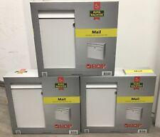 3er Set Briefkasten Briefkastenanlage Burg Wächter Mail 5877 Weiß