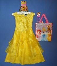 Disney Belle costume dress girls 4-6X;7-8-Tiara-Jewelry-Trick or Treat Bag-LOT