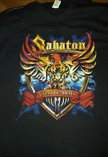 T SHIRT SABATON World war tour II March 2011 xl rare collector