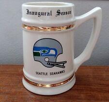 Vintage Seattle Seahawks Beer Stein/Mug w/ Gold accents-Inaugural Season