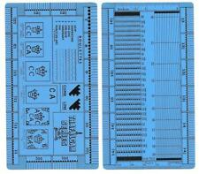 "Perforation Gauge ""Trafalgar Series Gauge"" Double-sided"