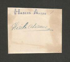 Cricket Pakistan signature autograph of HASEEB AHSAN 1950s-60s