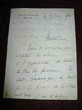 CAROLINE DE BROUTELLES Autographe Signé 1910 FONDATRICE PRIX FEMINA à ANDRE MARY