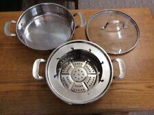 Nu wave Precision Steamer 3.5 Qt Multi-purpose Stainless Steel Pot #32003
