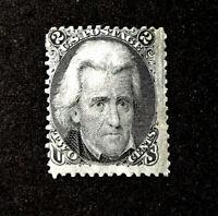 Scott US # 73 - Series of 1861-66; Jackson 2 cents; Unused/hinged; OG, CV=$325