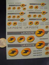 """DECALS 1/43 - 1/18 NOUVEAU LOGO """" LA POSTE """"  - T380"""