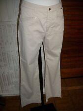 Pantalon droit taille haute coton stretch beige ESCADA SPORT 36FR 16ET18