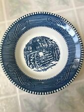 Royal China Currier and Ives Berry or Fruit Bowls Old Farm Gate Children on Gate