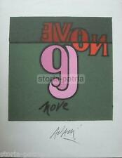 ARTE_ARTISTA VALERIO ADAMI_BELLA GRAFICA MODERNA_AUTOGRAFATA_NUMERO NOVE_D'EPOCA