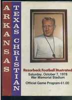 1978 Arkansas vs TCU Texas Christian football program MBX22