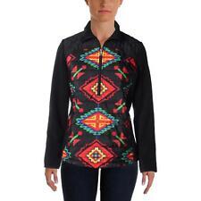 LRL Ralph Lauren 9447 Womens Black Mock Turtleneck Fleece Athletic Jacket M BHFO