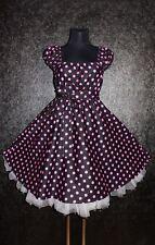 Gr 48 50 52 Damen ROCKABILLY 50er Petticoat Pin Up Abend Party Vintage KLEID