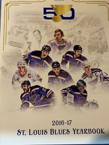 2016 2017 ST. LOUIS BLUES YEARBOOK 50TH ANNIVERSARY NHL OFFICIAL HOCKEY STANLEY