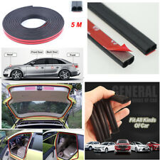 5M Moulding Rubber Strip Car Door Edge Seal Weather Soundproof Stickers B-Shape