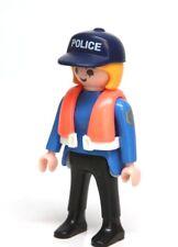 Playmobil Figure Custom Marine Police Woman w/ Life Vest Hat 5786