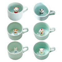 3D Coffee Mug Cute Animal Inside Ceramic Hand Painted Milk Tea Cup