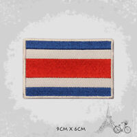 Costa Rica National Country Flag Patch Iron On Patch Sew On Embroidered Patch