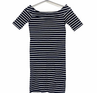 French Connection Womens Navy/White Striped Short Sleeve Bodycon Dress Size 8