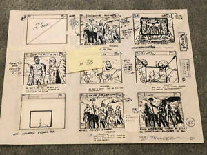 HE-MAN & MASTERS OF THE UNIVERSE MOTU -ORIGINAL FILMATION PRODUCTION STORY BOARD