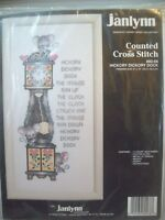 Hickory Dickory Dock Counted Cross Stitch Kit Janlynn #80-68 New circa 1991