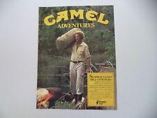 advertising Pubblicità 1985 CAMEL ADVENTURES