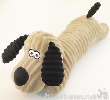 Squeaky Dachshund shape Dog Puppy TOY soft plush floppy carry friend fun throw