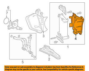 Lexus TOYOTA OEM 15-18 RC F 5.0L-V8 Engine Oil Cooler-Outlet Duct 1573238011