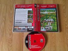 Golf Resort Tycoon II PC CD ROM