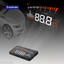 3'' Excelvan Digital HUD-X5 Projector Head Up Display Speed Warning Fuel OBD2 II