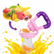 Baby Dummy Feeding Nibbles Weaning Nutrition Pacifier Fresh Fruit Food Feeder UK