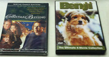 The Christmas Blessing & BENJI 4-Movie Collection Very Own Christmas DVD Lot Set