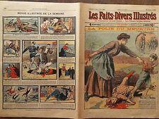 LES FAITS DIVERS ILLUSTRES 1909 N 183 LA FOLIE DU MEURTRE- MERE FOLLE MEURTRIERE