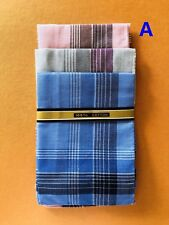 Men Mens Handkerchiefs Cotton Square Hanky BULK 100 Pure Pocket Handkerchief