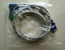 D-LINK DKVM-CB5 KVM Switch Cable 4.5M 15FT VGA Video Monitor PS2 Keyboard Mouse