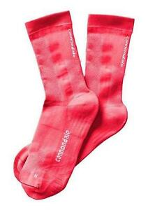 Cannondale Socks Coral (Pink) High Cuff XL Cushioned Footbed L & R Specific NEW
