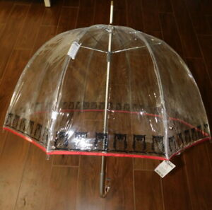 """Totes Clear Bubble Umbrella - Ex Large 52-68"""" Arc - Two Styles - Owl - Floral"""