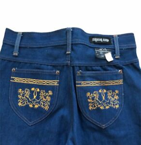 NEW Vtg UNION GAP 70s High Rise Bell Flare BottomsHASH Style Jeans RARE 33x34