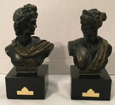 Greek Statues Diana And Apollo Bronze Urregui Sculpture Home Decor Art Pair