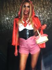 Adult small Red Riding Hood Costume Fancy No Basket