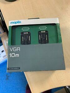 Maplin 10m VGA/HD15 lead, brand new in box