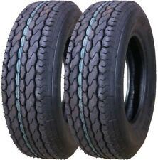 2 New Free Country Trailer Tire ST205/75D15 205 75 15 F78-15 Bias LRC 6PR 11021