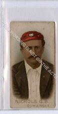 More details for (gb2174-495) wills, cricketers 1896, g.b.nichols, somerset g-vg