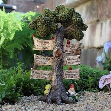 The Sign Says Tree Sign WS 1663 Miniature Fairy Garden Dollhouse