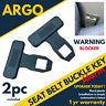 2 x Seat Belt Buckle Car Alarm Eliminator Clip/warning Light Stopper Safety Plug
