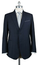 New $3600 Stile Latino Navy Blue Striped Suit - 46/56 - (VAULUCA20R0B30)