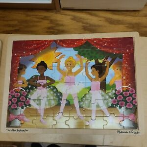 """Wooden Melissa And Doug Ballerina Puzzle approx 12"""" X 16"""""""
